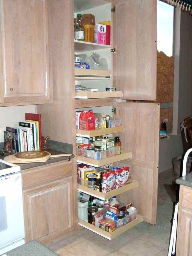 Rolling Shelf-System in the kitchen