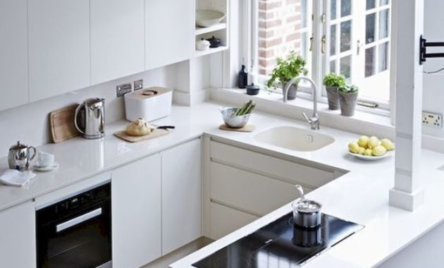 kitchen-set-decorations-electric-stove-countertop-white-kitchen-cabinet-exhausted-wooden-tile-floor-faucet-hinges-flower-vase
